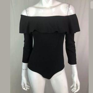 Zara Trafaluc Ruffled Off the Shoulder Bodysuit